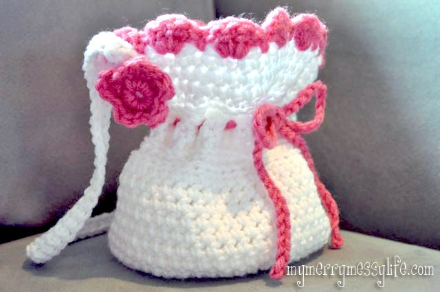 My Merry Messy Life: Free Crochet Pattern for a Crochet Little Girl's Purse