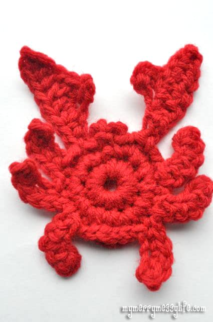 Crochet Crab Applique - Free Crochet Pattern!