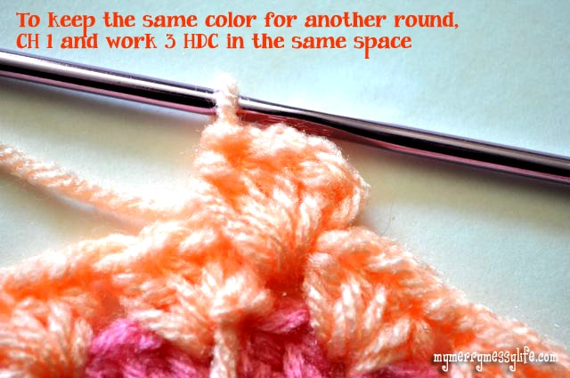 Crochet Granny Stitch Sun Hat - Instructions on How to Keep the Same Color