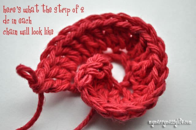 Crochet Rose Pattern and Tutorial - Step 2