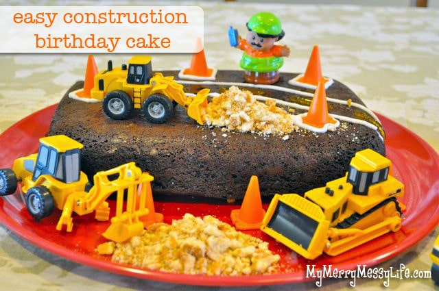 Gabriel's Construction Birthday Cake – Easy & Cheap