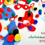 Christmas Craft with Kids – Felt Ornament with Puffy Paint and Pom-Poms