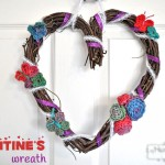 Crochet and Ribbon Valentine's Wreath Craft