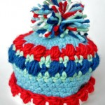 Newborn Baby Boy Puff Stitch Crochet Hat – Free Pattern
