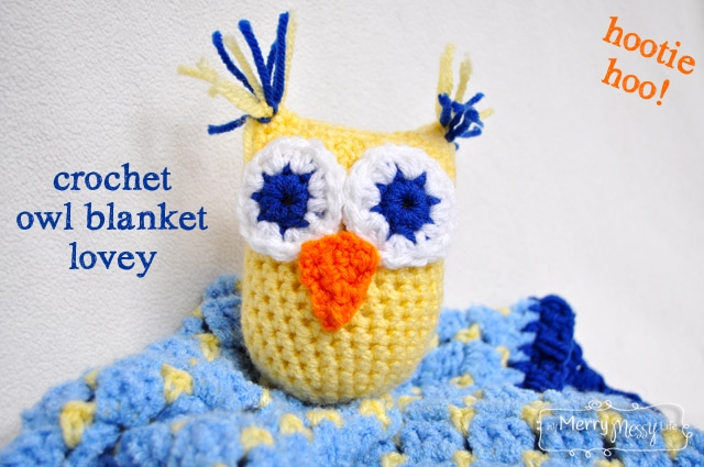 Crochet Owl Lovey Blanket for a Baby