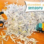 Free Fun for Kids – Shredded Paper Sensory Play