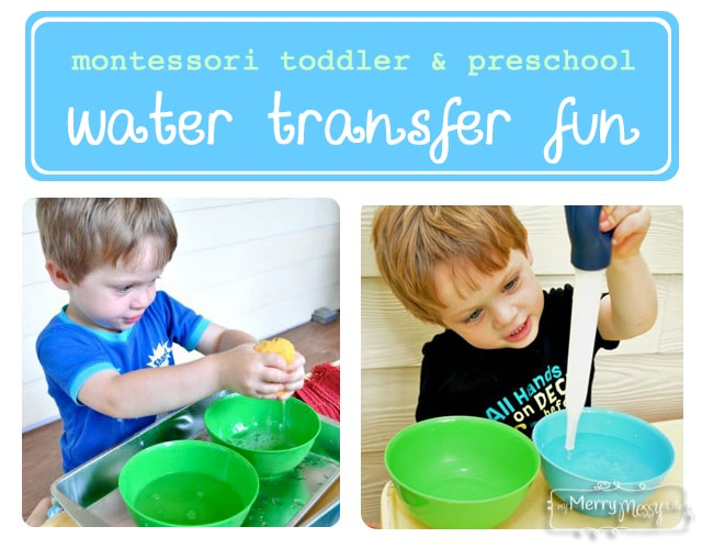 Montessori Preschool Activities – Water Transfer Trays
