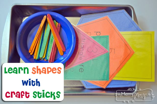 Learn Shapes with Craft Sticks – Preschool Learning Activity