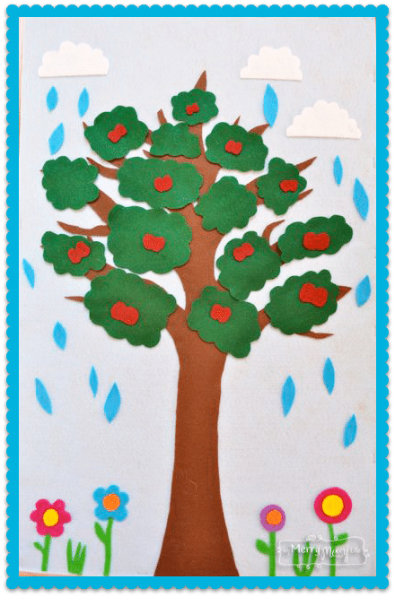 DIY Felt Board and Printables to teach Weather and Seasons – Preschool Learning Activity