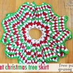 Crochet Christmas Tree Skirt – Granny Stitch Star (free pattern)