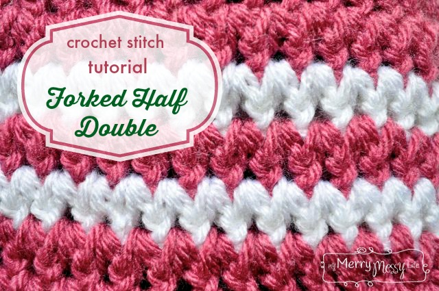 Crochet Stitches Hdc : Crochet Stitch Photo Tutorial - Forked Half Double Crochet - an easy ...
