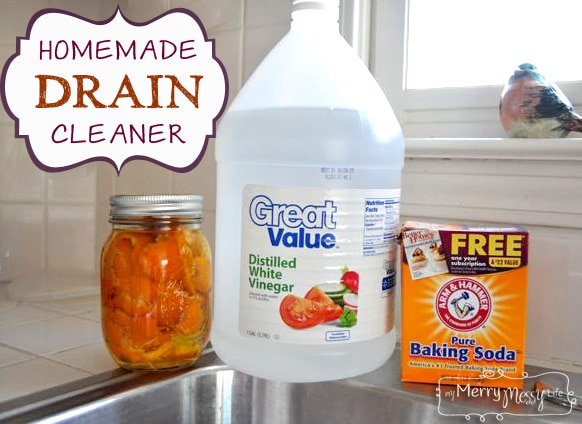 Homemade Drain Cleaner - Green and Non