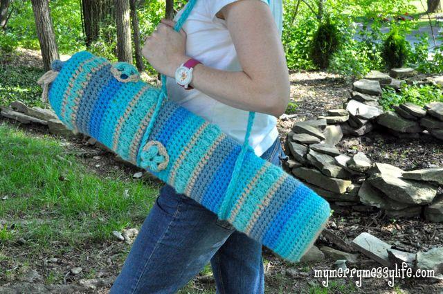 Free Crochet Yoga Mat Bag Pattern My Merry Messy Life