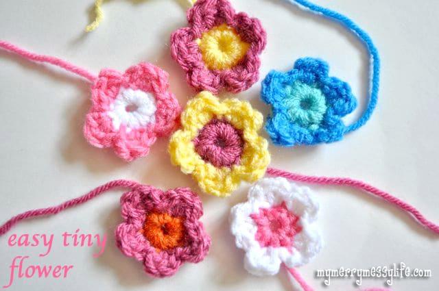 Free Crochet Pattern for an Easy Tiny Flower