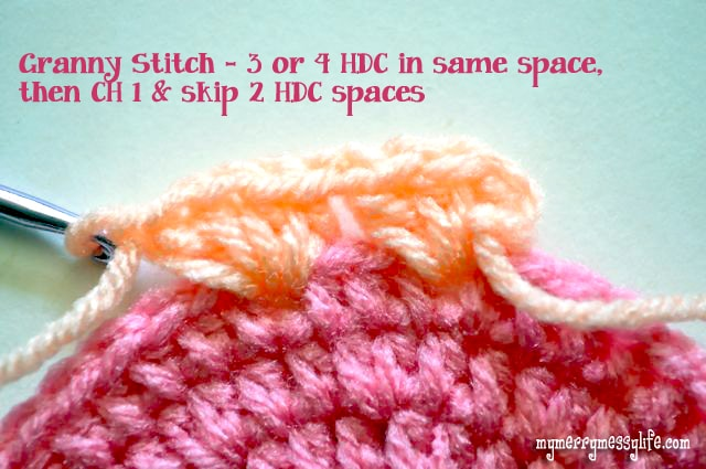 Crochet Granny Stitch Sun Hat - Instructions for the Granny Stitch
