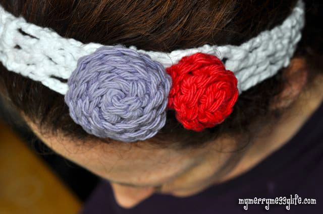 Crochet Rose Pattern - perfect to add to a headband!
