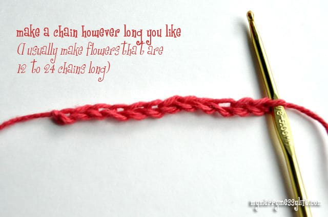 Crochet Rose Pattern and Tutorial - Step 1