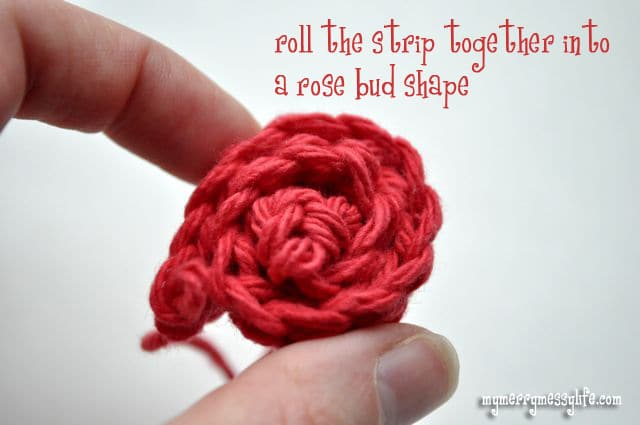 Crochet Rose Pattern and Tutorial - Step 3