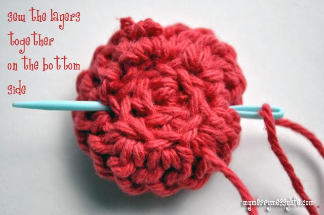 Crochet Rose Pattern and Tutorial - Step 4