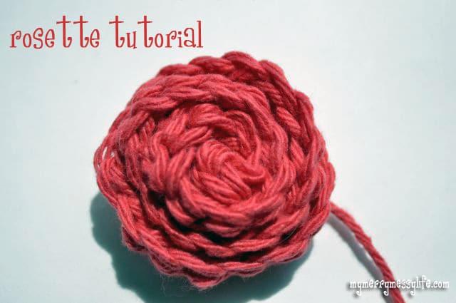 Crochet Rosette Tutorial and Free Pattern