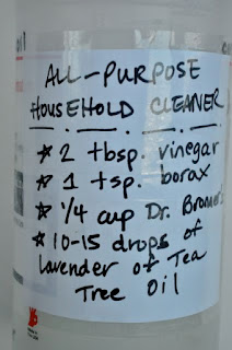 Make Labels for your cleaning supplies for safety