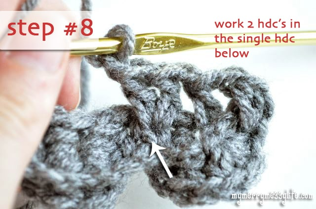 Crochet Crocodile Stitch Tutorial - Step #8