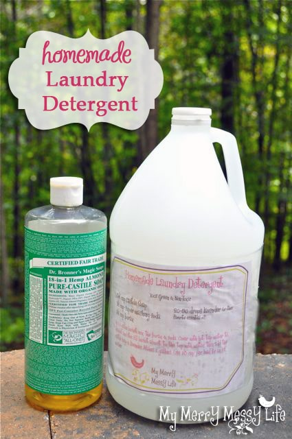 Diy homemade laundry detergent cheap and green free printable homemade laundry detergent with dr bronners castile soap solutioingenieria Image collections