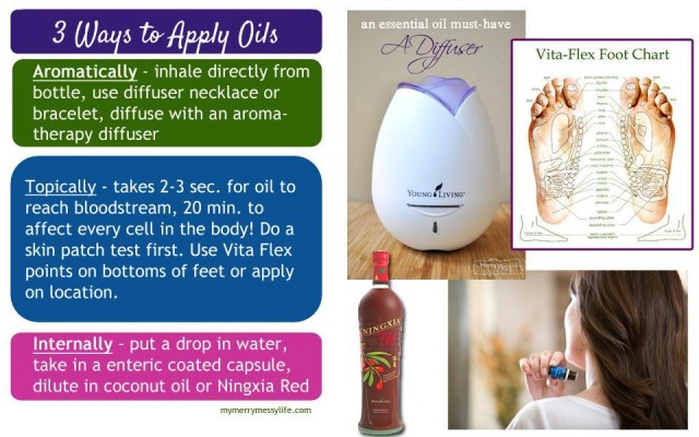 How to Apply Essential Oils - Aromatically, Topically and Internally