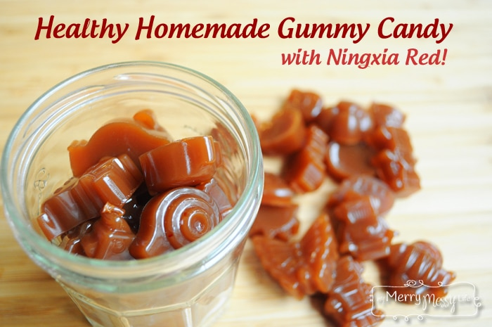 EASY Healthy Homemade Gummy Candy - Real, No Added Sugar, and with Ningxia Red!