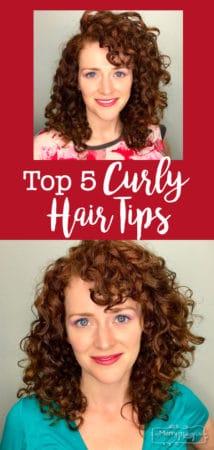 Two curly hair headshots