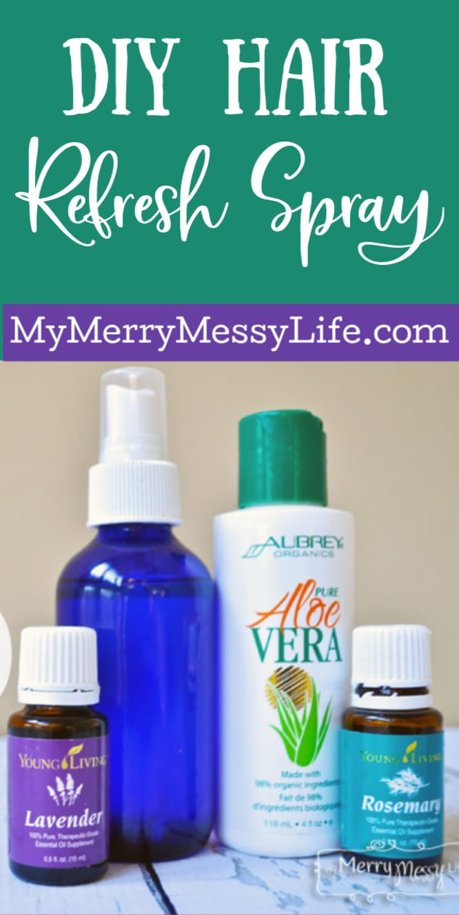 DIY Curly Hair Refresh Spray - tame the frizz in between washes with this moisturizing spray!
