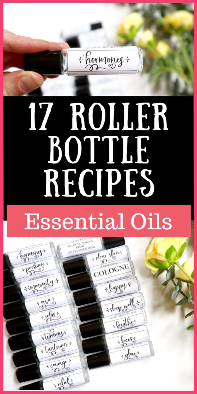 17 Essential Oil Roller Bottle Recipes for Every Area of Life! Each recipe also uses oils from Young Living's Premium Starter Kit.