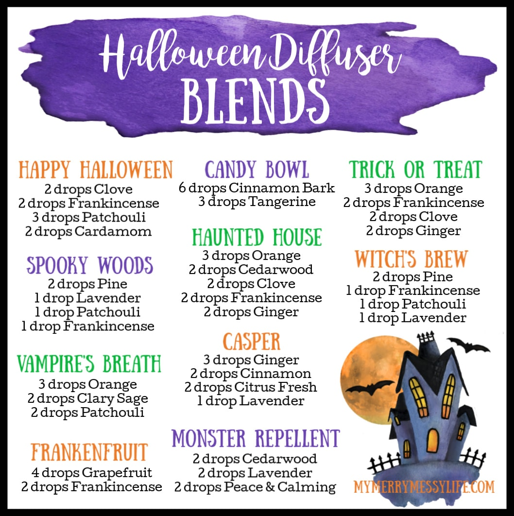 10 Halloween Essential Oil Diffuser Blends My Merry Messy Life