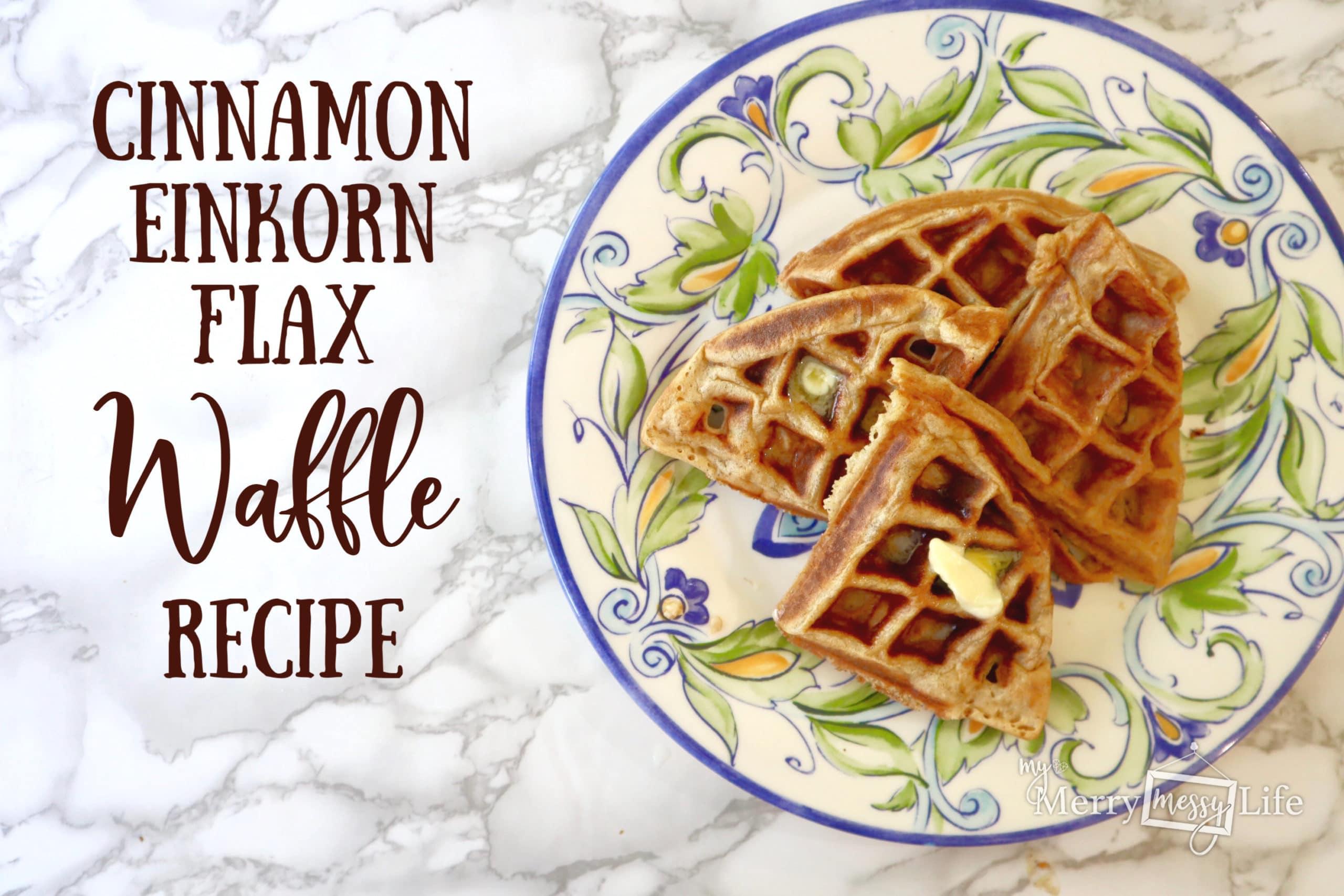 Cinnamon Einkorn Flax Waffle Recipe Picture