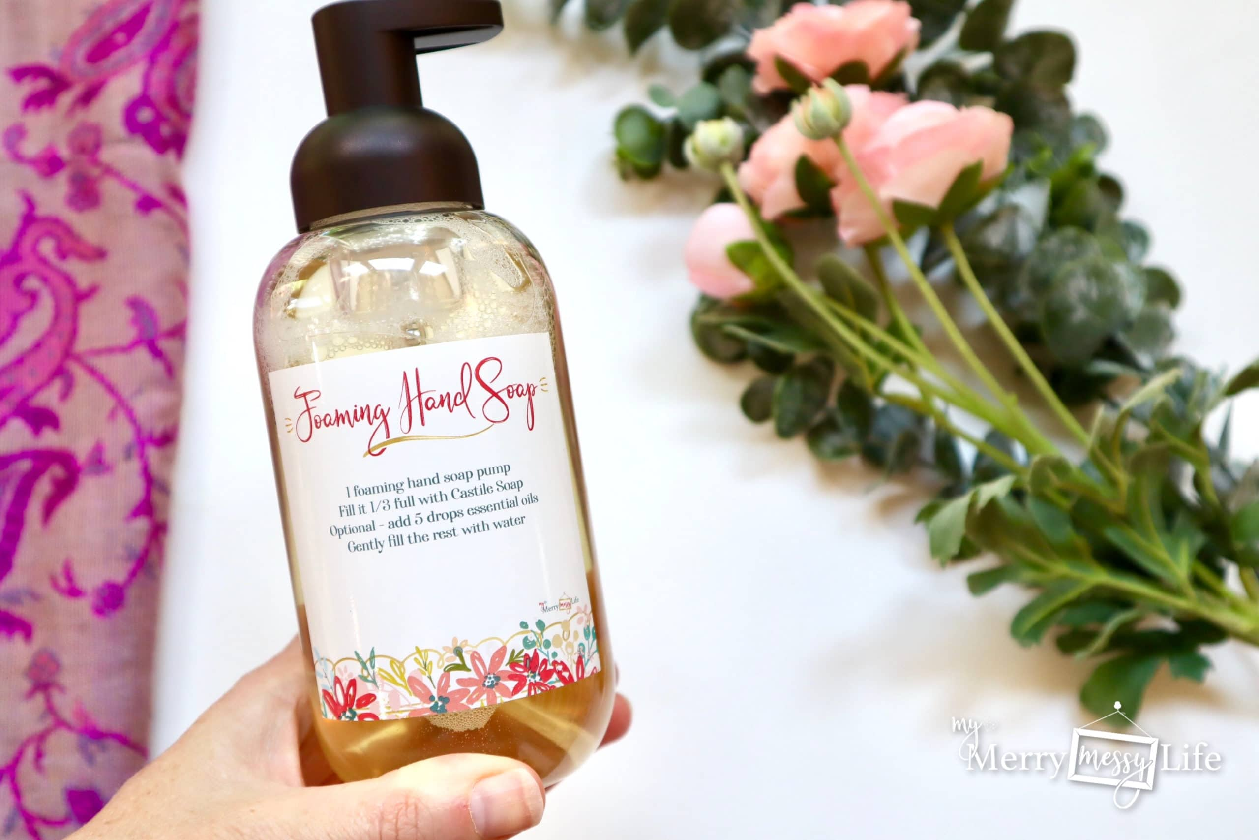 Homemade All-Natural Foaming Hand Soap