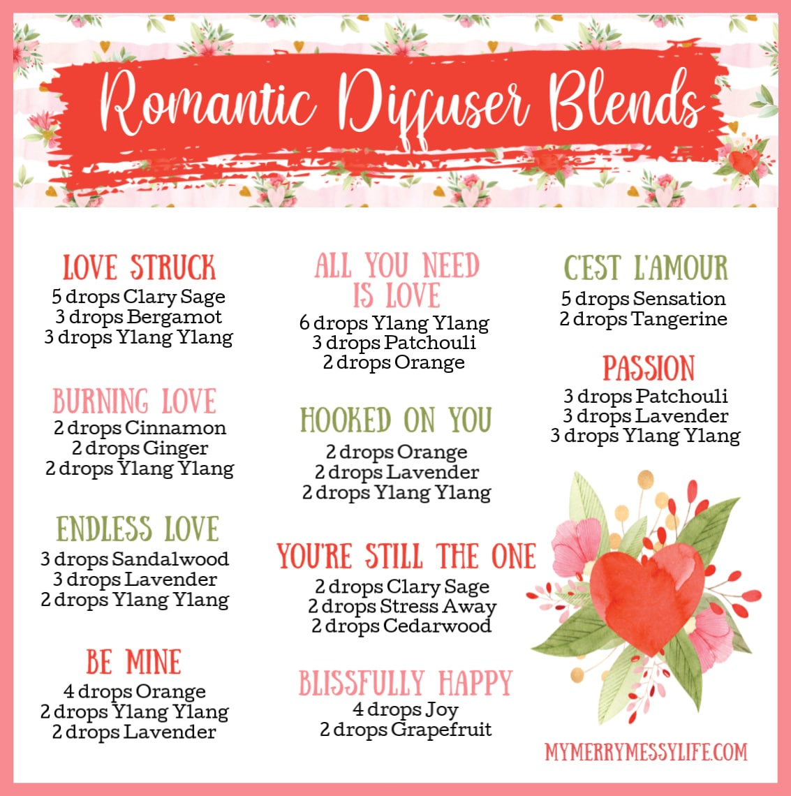 10 Romantic Essential Oil Diffuser Blends For Valentine S Day My Merry Messy Life